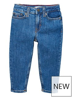 tommy-hilfiger-girls-high-rise-tapered-jeans-blue