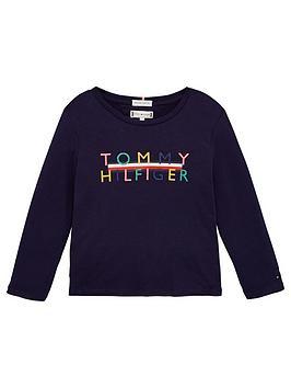 tommy-hilfiger-girls-long-sleeve-iconic-logo-t-shirt-multi