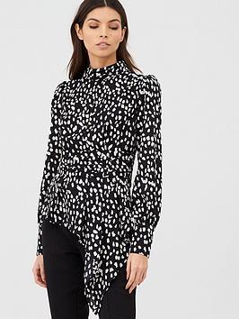 v-by-very-polka-peplum-crop-blouse-polka-dot