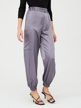 v-by-very-elasticated-waist-satin-utility-jogger-grey