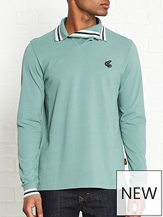 vivienne-westwood-anglomania-long-sleeve-squiggle-polo-shirt-green