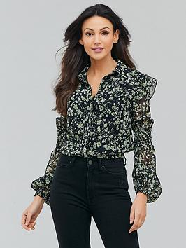 michelle-keegan-printed-shirred-panel-blouse-ditsy-floral