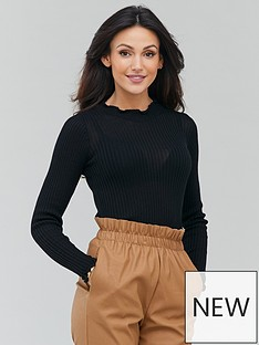 michelle-keegan-sheer-ribbed-knitted-turtle-neck-black