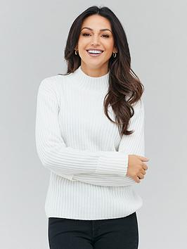 michelle-keegan-high-neck-knitted-jumper-ivory
