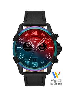 diesel-diesel-gen-5-full-display-oil-slick-case-dial-black-silicone-strap-smart-watch
