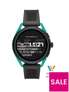 emporio-armani-emporio-armani-gen-5-full-display-green-dial-black-silicone-strap-smart-watch