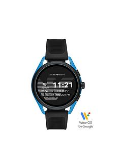emporio-armani-emporio-armani-gen-5-full-display-blue-dial-black-silicone-strap-smart-watch
