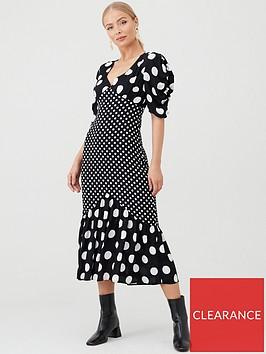 v-by-very-spot-mixed-print-dress-print