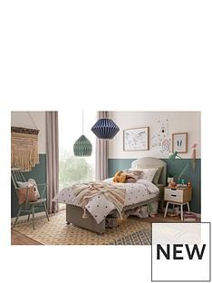 Silentnight Maxi Store Divan Bed Set With Kids Sprung Matress | Sandstone