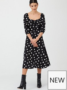 v-by-very-moss-crepe-midi-dress-spot