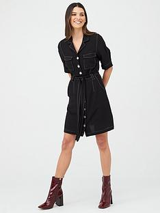 v-by-very-top-stitch-ss-dress