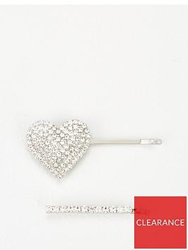 michelle-keegan-2-pack-rhinestone-heart-hair-clip-silver
