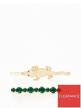 v-by-very-2-pack-crocodile-emerald-hair-slides-gold