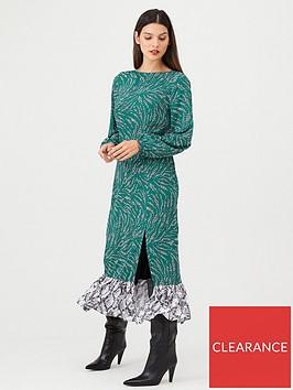 v-by-very-mixed-print-midaxi-dress-green