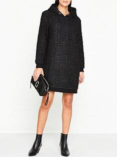 sofie-schnoor-wickie-tweed-sweater-dress-black