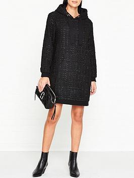 sofie-schnoor-wickie-tweed-sweater-dress-black