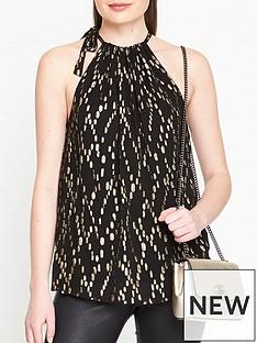 sofie-schnoor-dora-metallic-halterneck-blouse-black