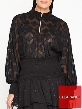 sofie-schnoor-jannie-batwing-metallic-blouse-black