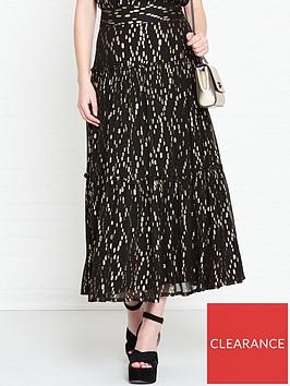 sofie-schnoor-celia-metallic-maxi-skirt-black