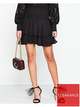 sofie-schnoor-louisa-tiered-metallic-mini-skirt-black