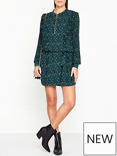 sofie-schnoor-elin-animal-print-belted-mini-dress-green