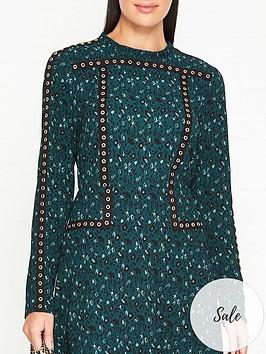 sofie-schnoor-feline-animal-print-eyelet-blouse-green