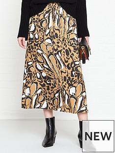 gestuz-lori-leopard-print-skirt-brown