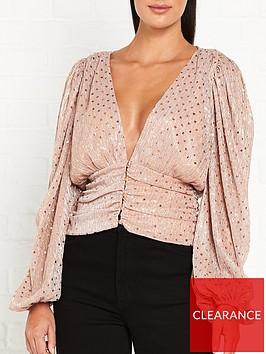 for-love-lemons-la-villette-plunge-neckline-blouse-pink