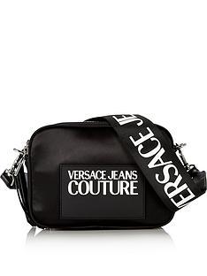 versace-jeans-couture-nylon-satin-logo-strap-cross-body-bag-black