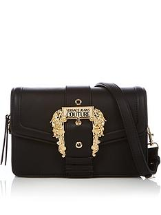 versace-jeans-couture-logo-buckle-cross-body-bag-black