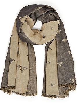 vivienne-westwood-orb-logo-scarf-beigeblack