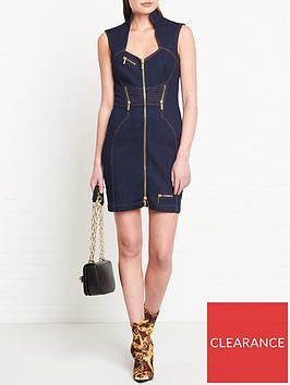 versace-jeans-couture-zip-detail-denim-dress-indigo