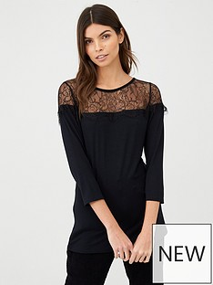 v-by-very-lace-bib-top-black