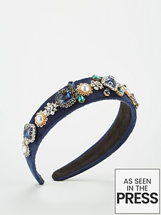 v-by-very-embellished-headband-navy