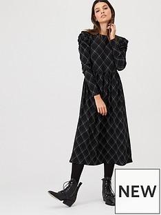 v-by-very-checked-frill-sleeve-midi-dress-check
