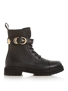 versace-jeans-couture-buckle-leather-ankle-boots-black