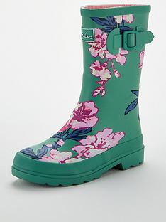 joules-girls-roll-up-wellington-boot-green