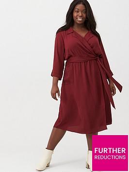 v-by-very-curve-utility-pocket-midi-dress-plum