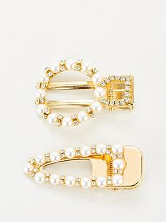 michelle-keegan-2-pack-pearl-and-diamante-hair-clips-pearl