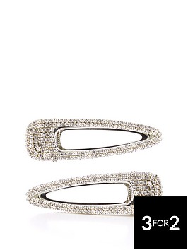 michelle-keegan-2-pack-diamante-hair-clips-silver
