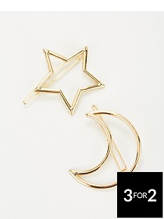 michelle-keegan-moon-and-star-hair-slides-gold