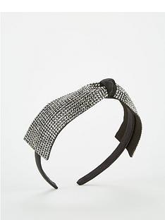 michelle-keegan-embellished-bow-hairband-black