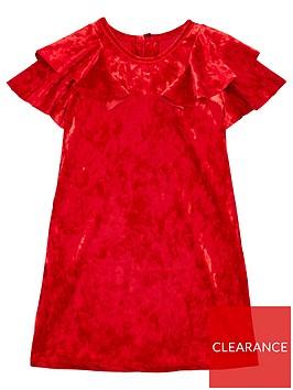 v-by-very-girls-velvet-ruffle-sleeve-shift-dress-red