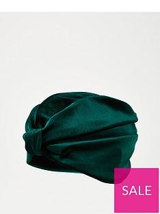 v-by-very-velvet-turban-green