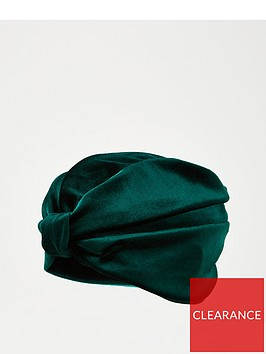 v-by-very-velvet-turban-green