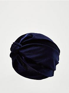 v-by-very-velvet-turban-navy
