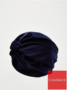 v-by-very-velvet-turban-navy