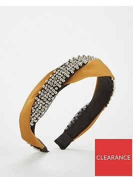 v-by-very-beaded-twist-hairband-mustard
