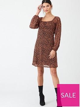 v-by-very-mesh-milkmaid-mini-dress-animal