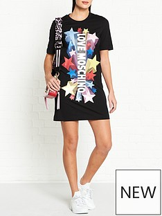 love-moschino-star-logo-t-shirt-dress-black